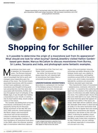 Moonstones: Shopping for Schiller