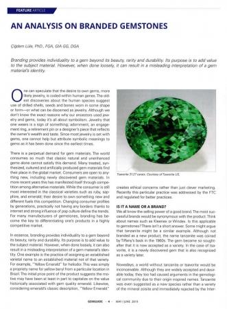 An analysis on branded gemstones