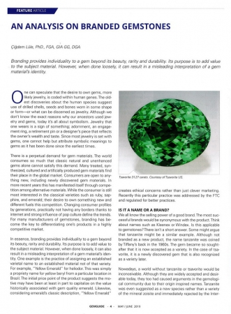 An analysis on branded gemstones