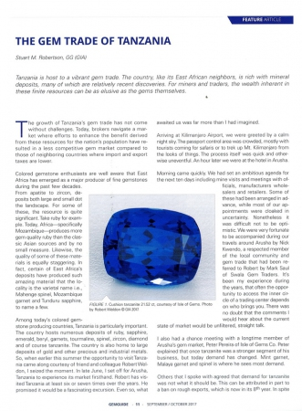 The gem trade of Tanzania