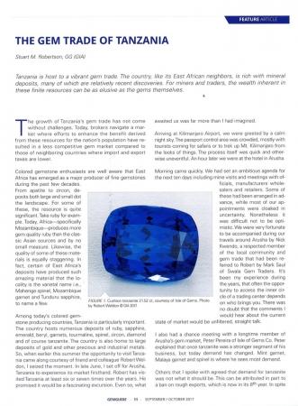 The gem trade of Tanzania