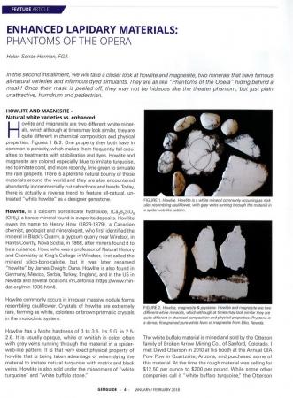 Enhanced lapidary materials: phantoms of the opera