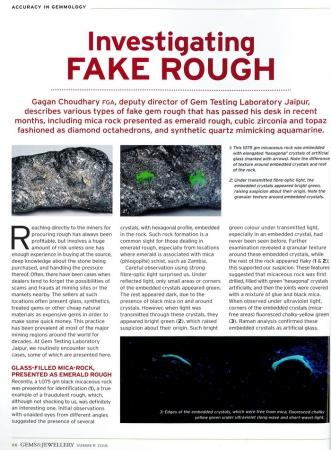 Investigating fake rough
