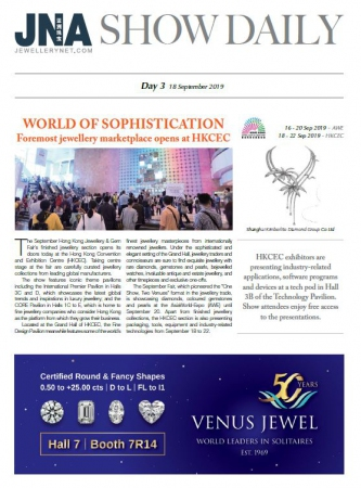 JNA Show Daily Issue 3 (18 Sep 2019)