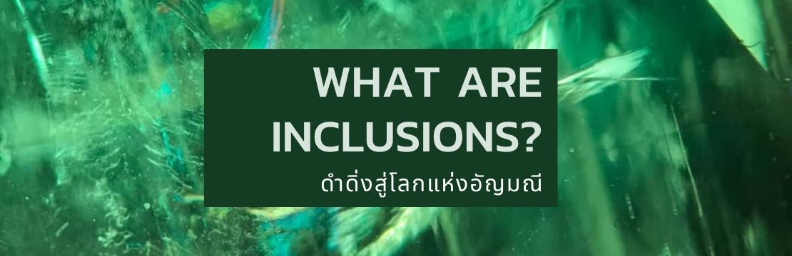 WHAT ARE INCLUSIONS? : ดำดิ่งสู่โลกแห่งอัญมณี